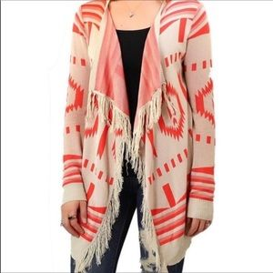 Umgee Aztec print open front cardigan